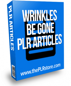 wrinkles be gone plr articles