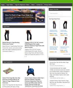 Yoga Fitness PLR Website and Amazon Store