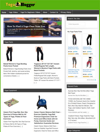 Yoga Fitness PLR Website and Amazon Store