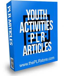 Youth Activities PLR Articles