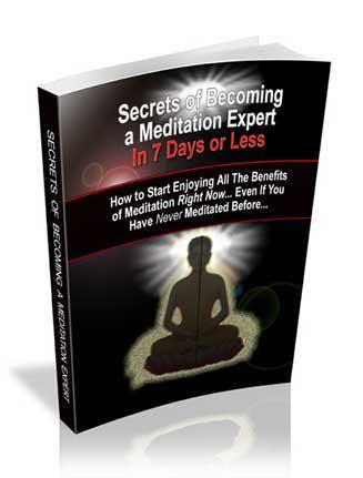 Meditating Like An Expert Ebook MRR