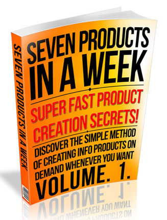 seven products in a week ebook