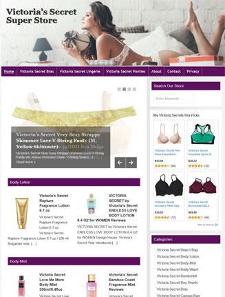 Victorias Secret PLR Website Amazon Store
