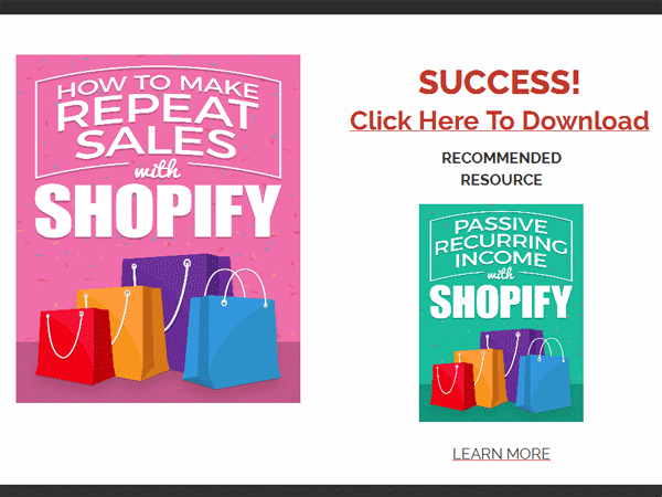 shopify passive recurring income ebook