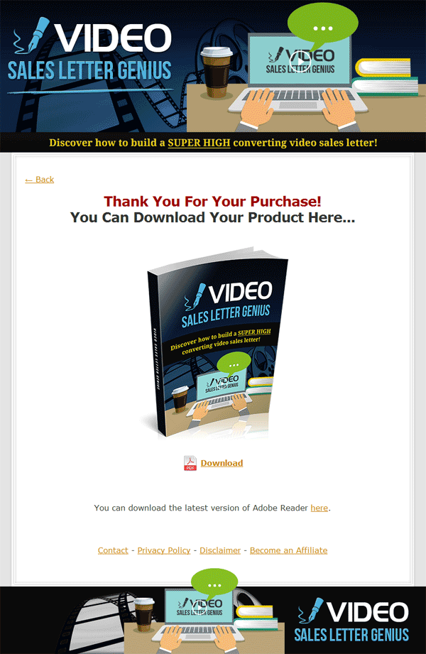 video sales letter genius plr ebook