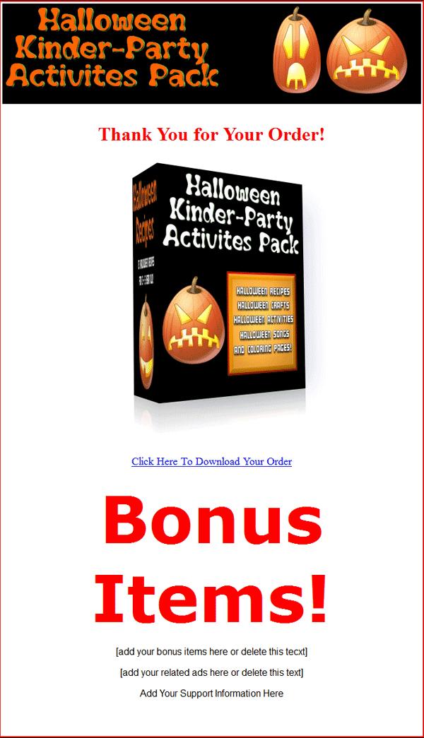 halloween plr package