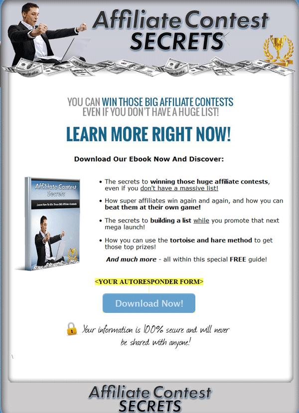 Affiliate Contest Secrets PLR Ebook with Private Label Rights