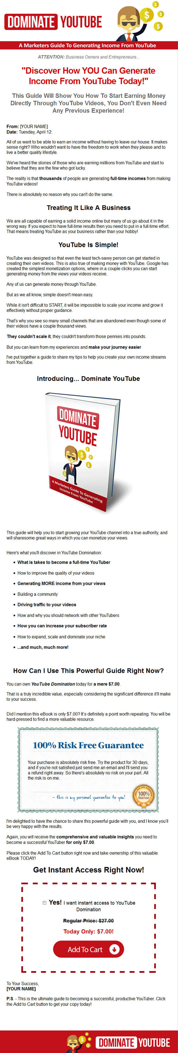 dominate youtube ebook