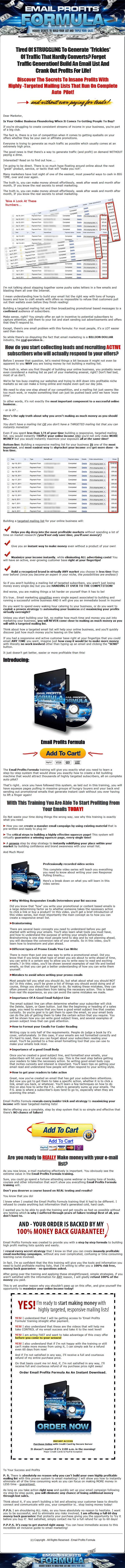 email profits formula