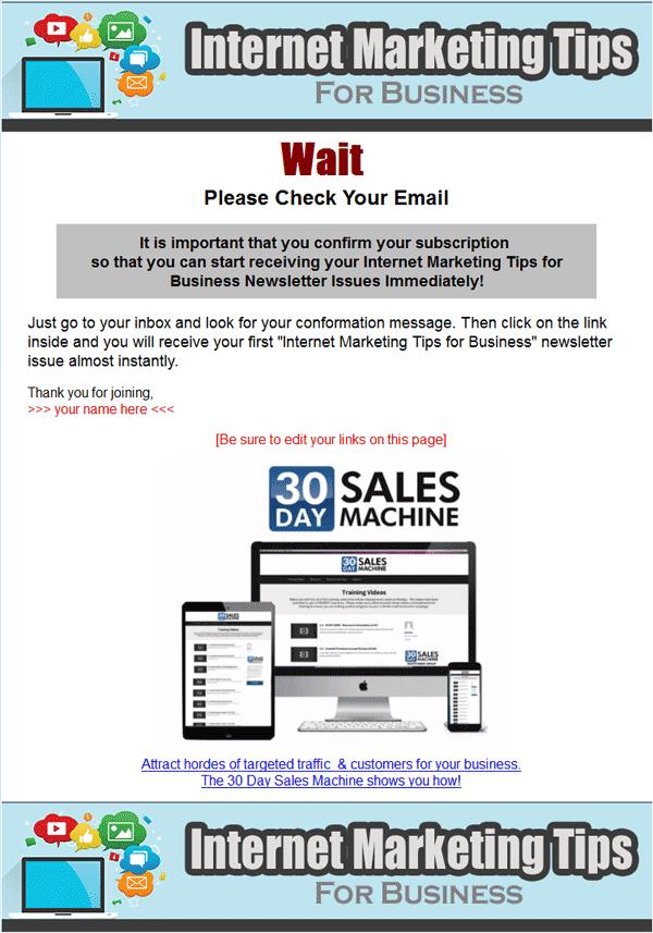 internet marketing for business plr autoresponder
