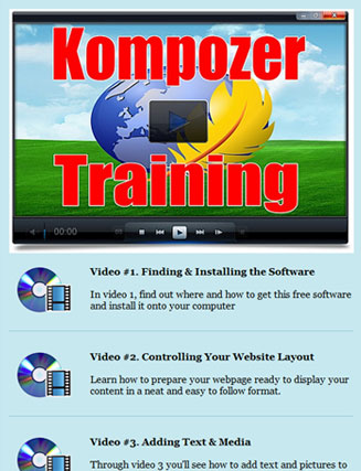 how to add a video in kompozer