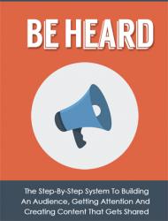 be heard ebook and videos be heard ebook and videos Be Heard Ebook and Videos Package with Master Resale Rights be heard ebook and videos 190x250