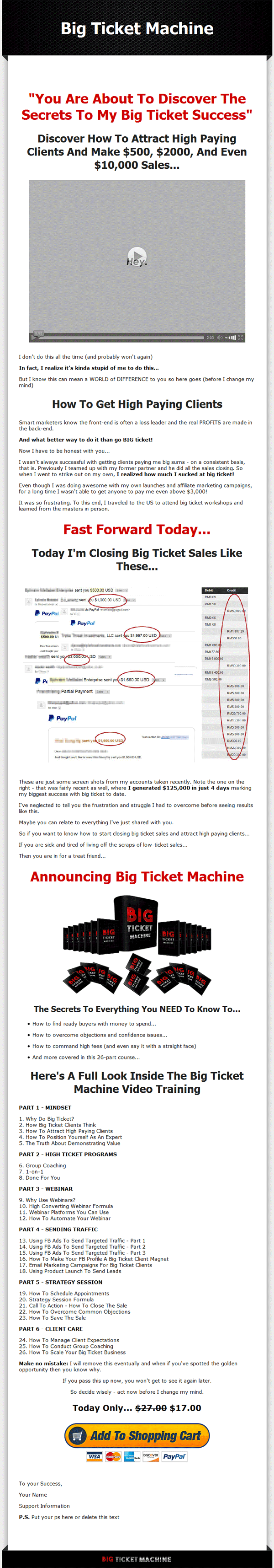 Big ticket machine ebook and videos mrr package fandeluxe Epub
