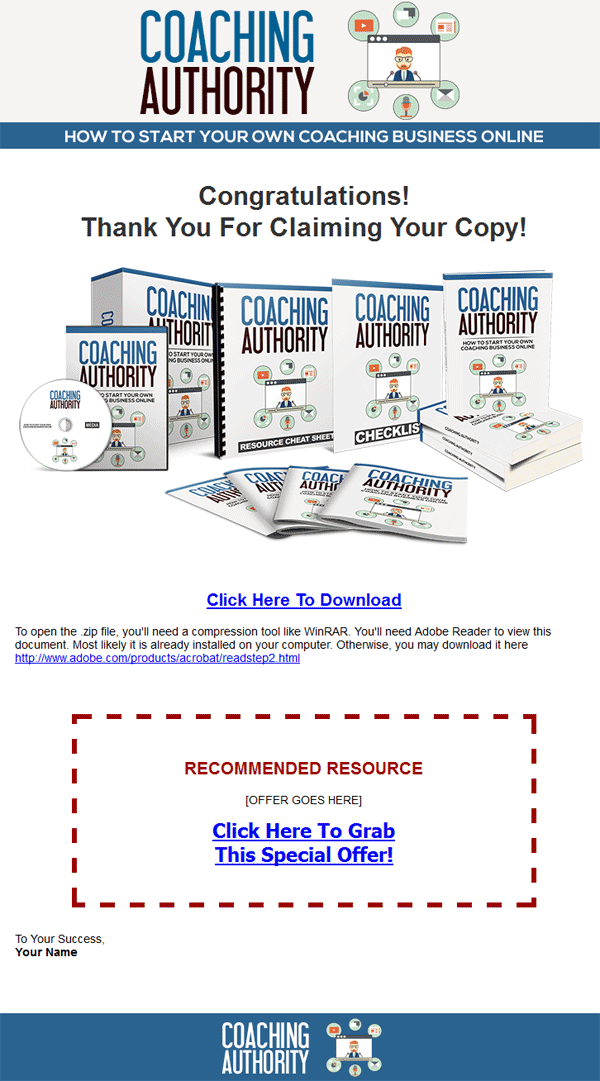 coaching authority ebook and videos