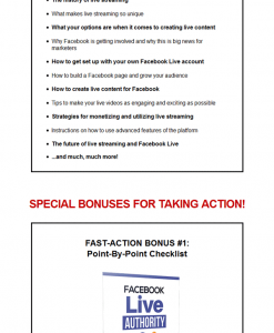 Facebook Live Authority + 10 Free eBooks With Resell rights ( PDF )