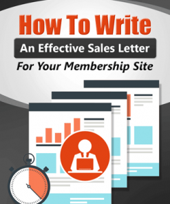 membership site sales letter creation plr ebook