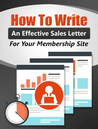 membership site sales letter creation plr ebook