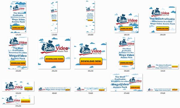 sales video assets plr graphics
