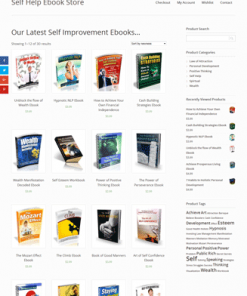 self help digital products store plr website