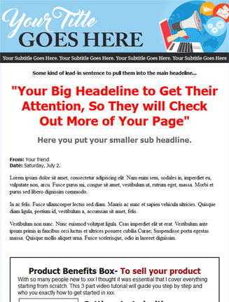 light blue salespage squeeze page template