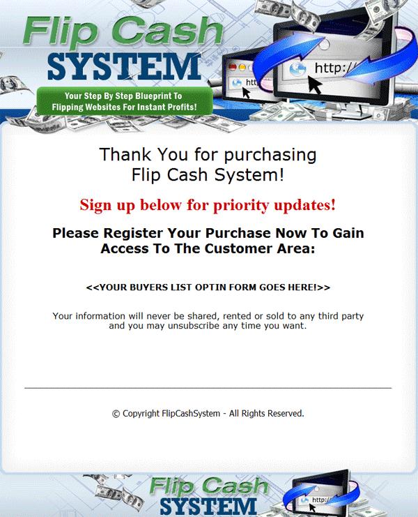 website flipping cash system plr ebook and videos