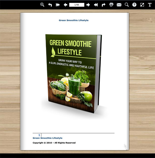green smoothies lifestyle ebook