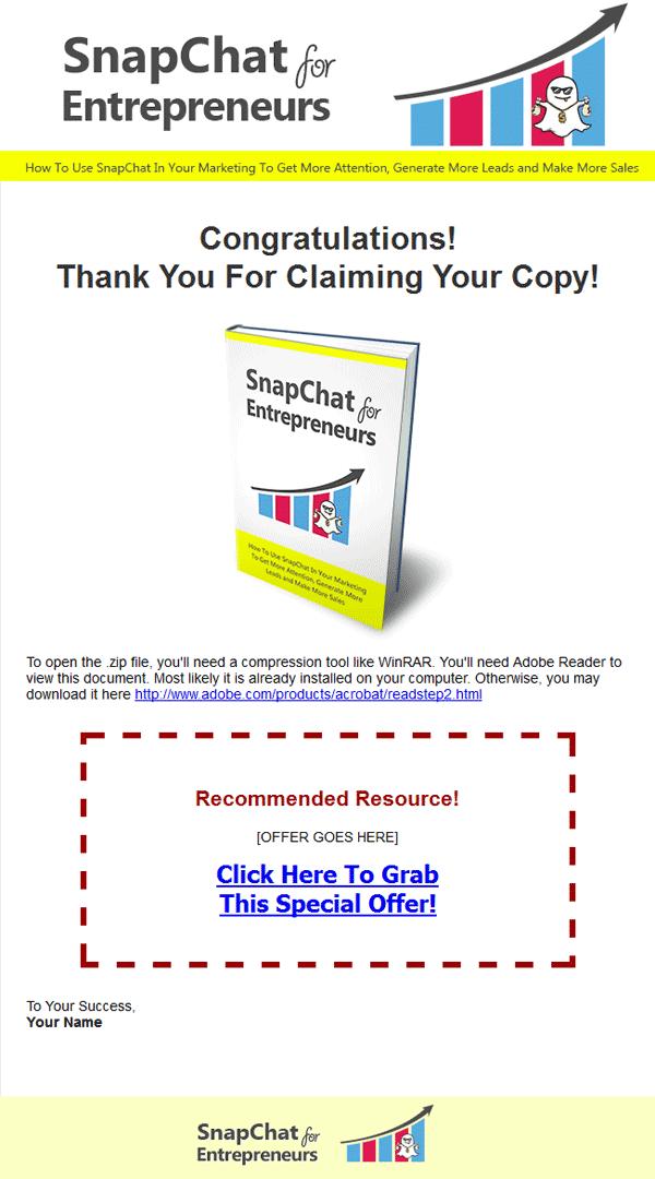snapchat marketing ebook