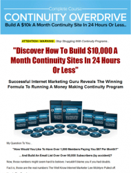 continuity overdrive plr videos continuity overdrive plr videos Continuity Overdrive PLR Videos with Private Label Rights continuity overdrive plr videos 190x250