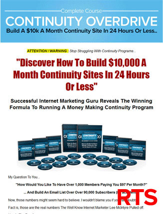 continuity overdrive plr videos ready to sell
