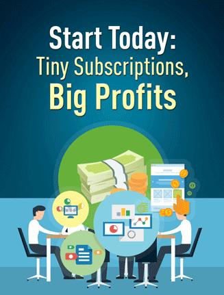 tiny subscriptions big profits plr report
