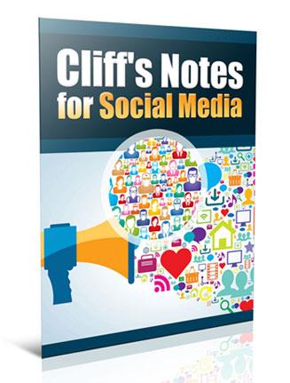 social media marketing cliff notes plr report