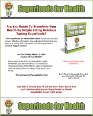 superfoods for health plr autoresponder messages