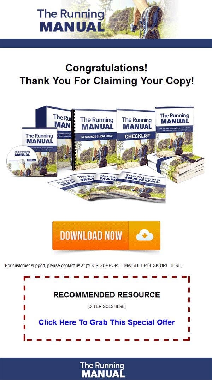 running manual ebook and videos