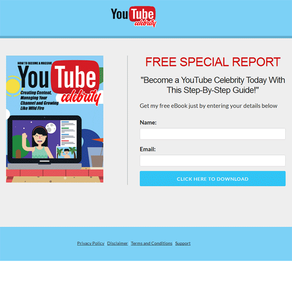 youtube celebrity ebook and videos