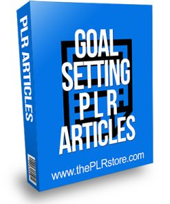Goal Setting PLR Articles