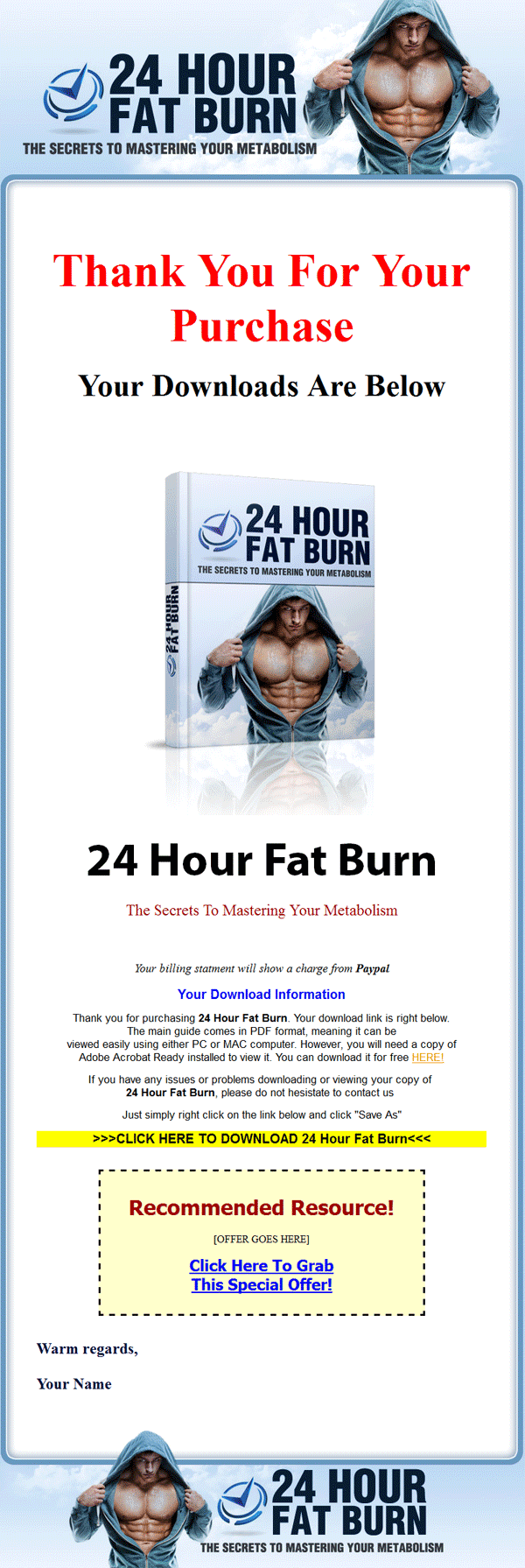 24 hour fat burn ebook and audiobook