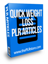 quick weight loss plr articles