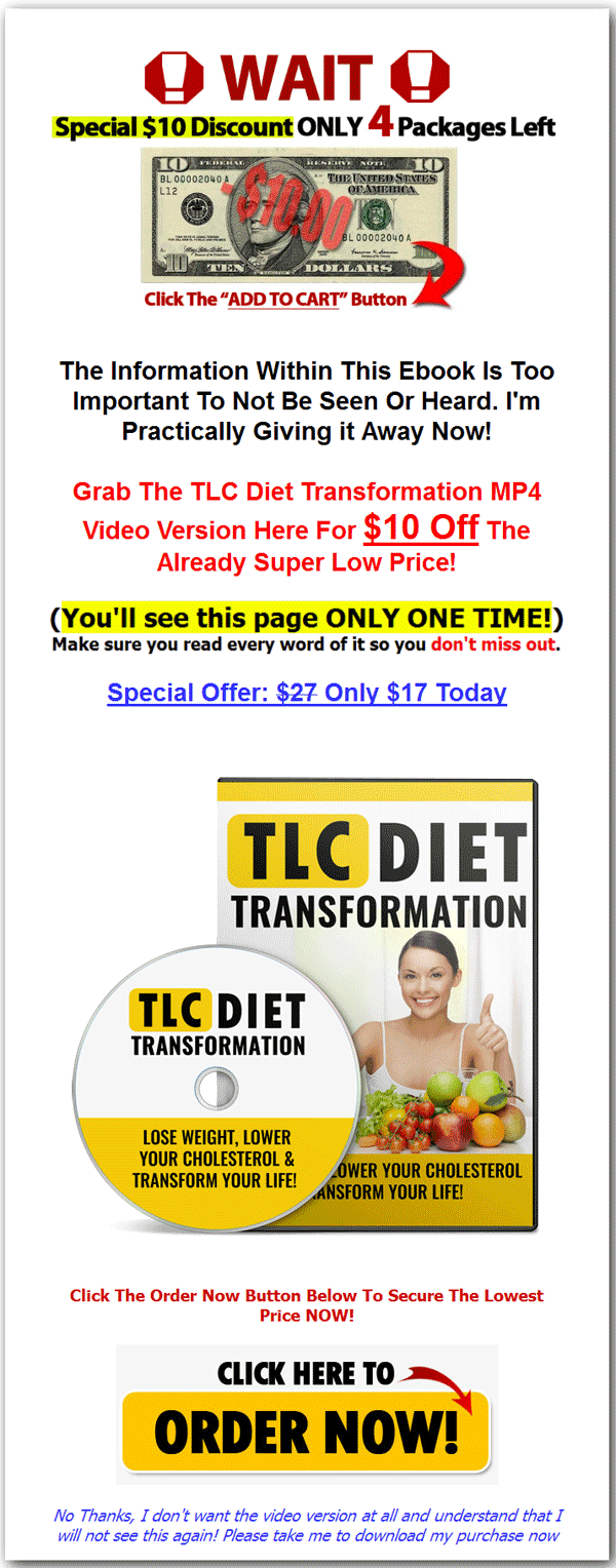 Tlc diet transformation ebook and videos with master resale rights tlc diet transformation ebook and videos fandeluxe Gallery