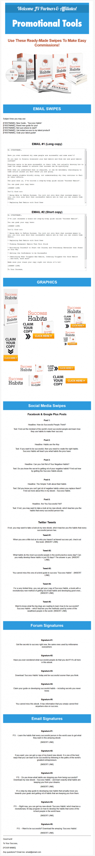 success habits ebook and videos