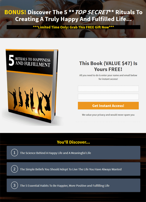 success rituals ebook and videos