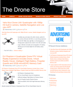 drones plr amazon store website