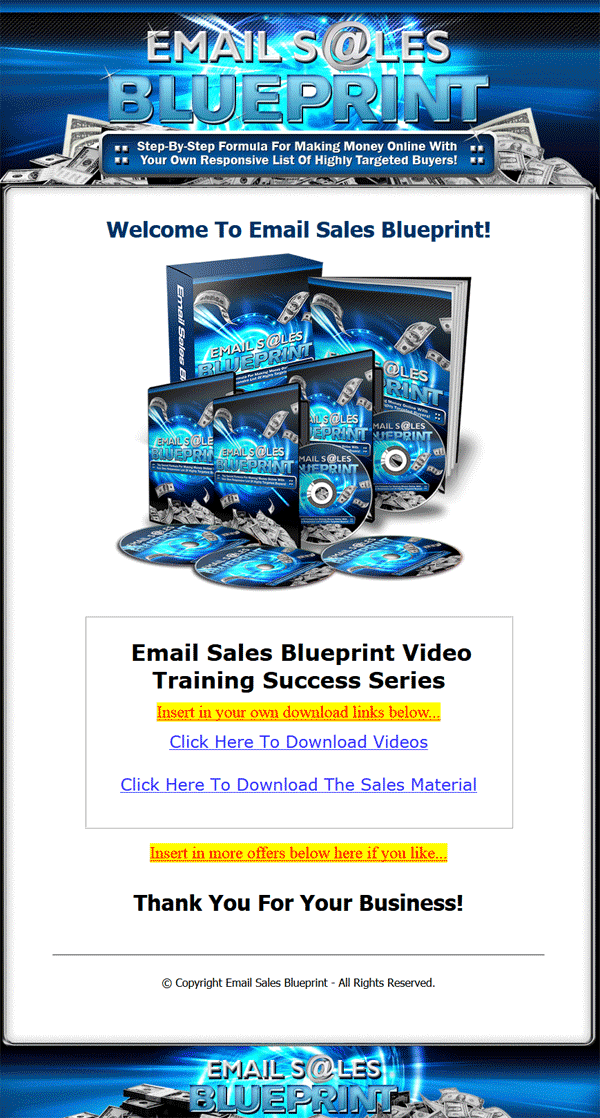 Email sales blueprint plr videos with private label rights email sales blueprint plr videos malvernweather Choice Image