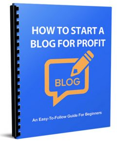 how to start a blog for profit report