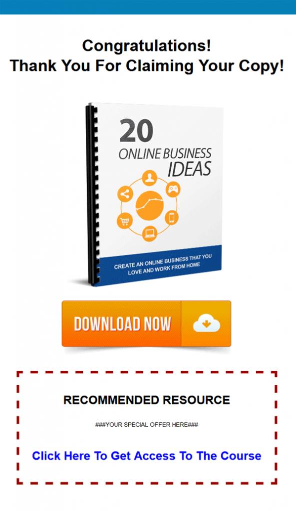 online business ideas report