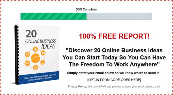 report an online business