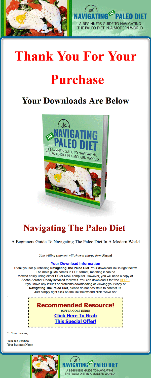 paleo diet beginners guide ebook and videos