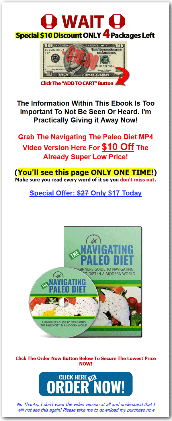 Paleo diet beginners guide ebook and videos master resale rights paleo fandeluxe Gallery