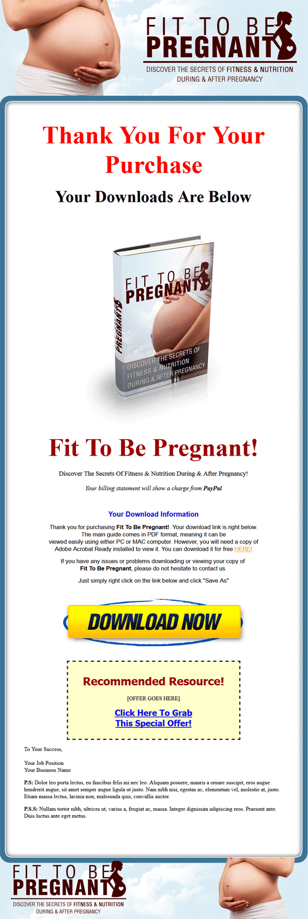 pregnancy fitness ebook and audio