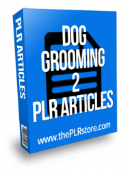dog grooming plr articles