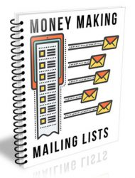 money making mailing lists plr ebook